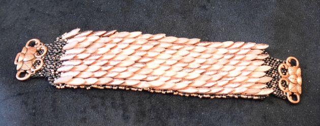 Bronze Daggar bead bracelet