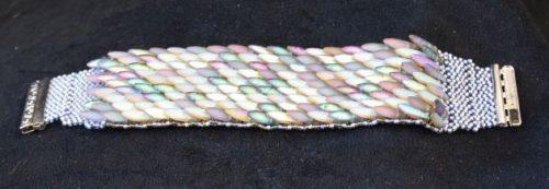Pale Peacock Daggar Bead Bracelet