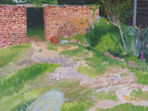Garden Path through Wall